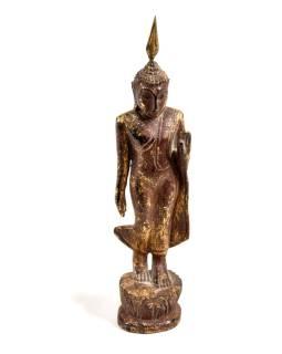 Narodeninový Buddha teakový 8 '' - hnedá patina