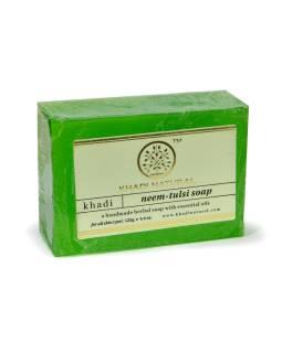 Ručne vyrábané mydlo s esenciálnymi olejmi, Neem-Tulsi, 125g