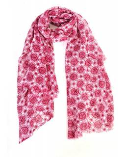 Šedoružové šatka so vzorom floral, 175x115cm