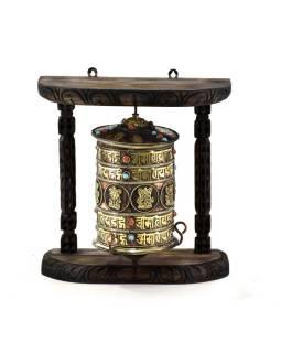 Modlitebný mlynček na stenu, Astamangal, čierny, 31x18x31cm