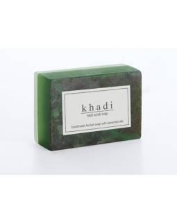 Ručne vyrábané mydlo s esenciálnymi olejmi, Basil Scrub, 125g