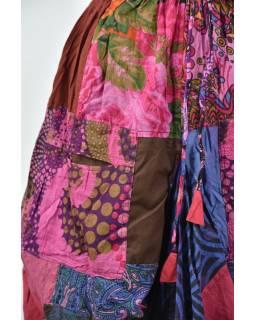 Balónová sukňa s potlačou, patchwork dizajn, Ruovi