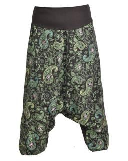 500e421d1316 Čierne turecké nohavice s potlačou paisley