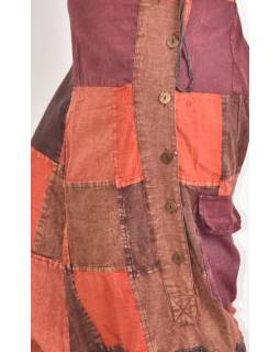 Unisex turecké nohavice s vreckami a gombíky, stonewashed dizajn