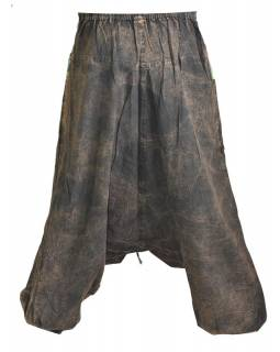 Unisex turecké nohavice s vreckami, stonewashed dizajn