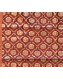 Obrus na stôl, červený, mandala, brokát, 100x100cm