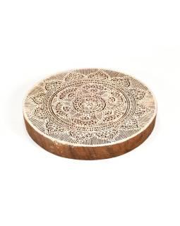 """Vyrezávané pečiatka """"Mandala"""", ručné práce, palisander, 18cm"""