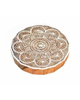 "Vvyřezávané pečiatka ""Mandala"", palisander, 15cm"
