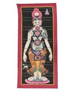 Tanka, Yoga, maľba na plátne, 30x70cm