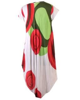 Trojštvrťové letné šaty s krátkym rukávom, biele