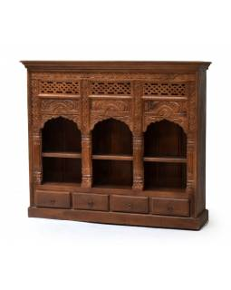 Knižnica z mangového dreva, 140x34x123cm
