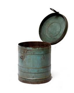 Plechová dóza, antik, 40x40x43cm