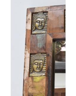 Zrkadlo v ráme zdobenom reliéfy Budhov, 90x150x5cm