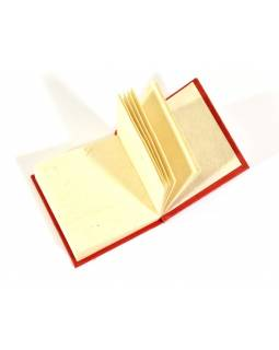 Notýsek vyrobený z ručného papiera, zlatá potlač, 6x6cm