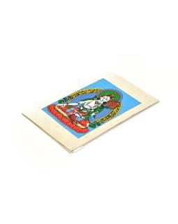 Prianie vyrobené z ručného papiera s obrázkom, Biela Tara, 12x16cm