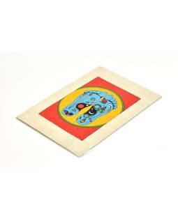 Prianie vyrobené z ručného papiera s obrázkom, Buddhovy stopy, 12x16cm
