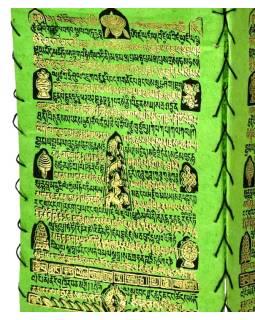 Tienidlo, štvorboké, zelené, zlatá tlač, písmo, 18x25cm
