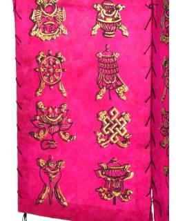 Tienidlo, štvorboké, ružové so zlatou potlačou Astamangal, 18x25cm
