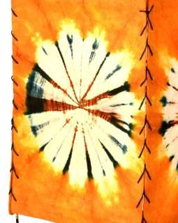 Tienidlo, oranžovej, štvorboké, batika kruh, farbený ryžový papier, 18x26cm