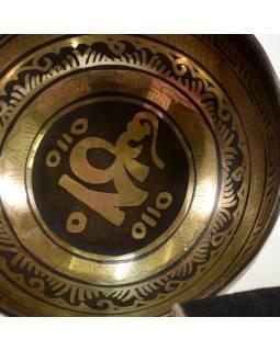 """Tibetská misa, """"GULP"""", gravírovaná s dizajnom, priemer 14cm"""