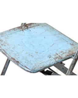 Kovová skladacie stoličky, antik, 35x31x80cm