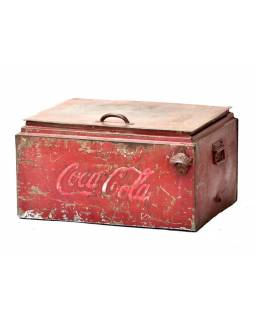 """Plechová chladnička """"Coca Cola"""", antik, 56x44x34cm"""