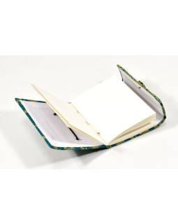 Notes v brokátová väzbe, ručný papier, 12x16cm