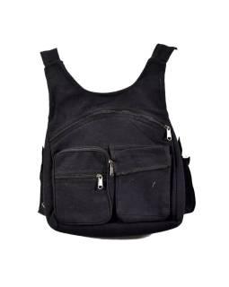 Batoh, čierny, bavlna, 31x31cm