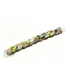Multifarebný šatku, mačkaná úprava, kvetinová potlač, 55x170cm