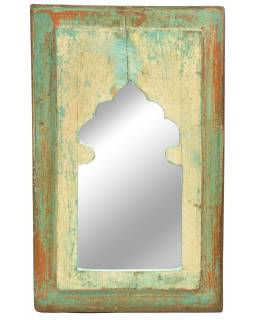 Zrkadlo v ráme, starý teak, 23x2x36cm