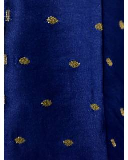 "Luxusné indické šaty ""Anarkali"", tmavo modrej, šál a legíny"