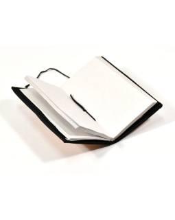 Notes vo väzbe z recyklovaného papiera, ručný papier, 10x18cm