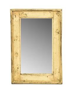 Zrkadlo v ráme, starý teak, 31x3x46cm