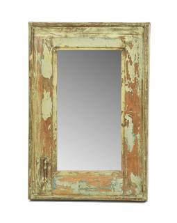 Zrkadlo v ráme, starý teak, 33x3x49cm