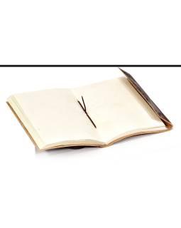 Notes v koženej väzbe, hladký, ručný papier, 12x18cm