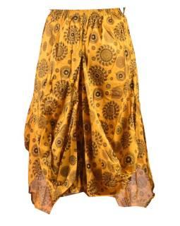 Balónová sukňa s potlačou mandál, žltá