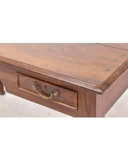 Písací stôl z teakového dreva, 121x67x76cm