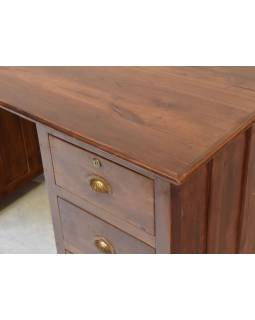 Písací stôl z teakového dreva, 43x57x78cm