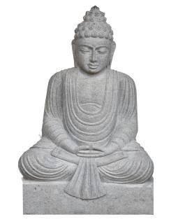 Kamenná socha, Budha Amitábha, podstavec, žula, 85cm