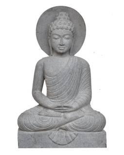 Kamenná socha, Budha Amitábha, podstavec, žula, 100cm