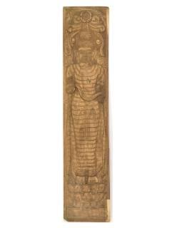 Vyrezávaný panel Budha, antik, 36x163x3cm