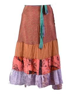 Dlhá zavinovacie sukne, multifarebná