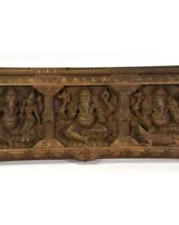 Vyrezávaný panel Ganesh, 153x36x7cm