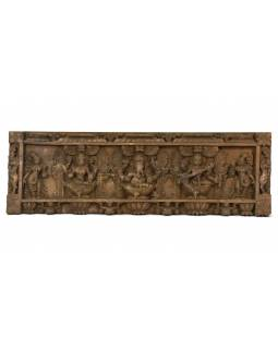 Vyrezávaný panel Ganesh, 91x29x4cm