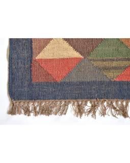 Koberec, ručne tkaný, vlna, juta, 246x310cm