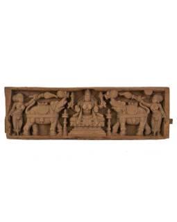 Vyrezávaný antik panel Laxmi, 63x20x5cm