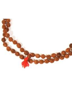 Mala Rudraksha, 108 korálok, priemer 9mm, dĺžka cca 60cm