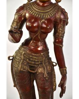 Mosadzná socha bohyne Parvati, 19x26x115cm