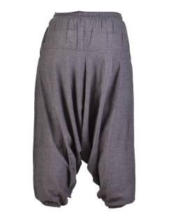 Šedivé turecké nohavice, guma v páse, vrecká, mäkčené prevedenie