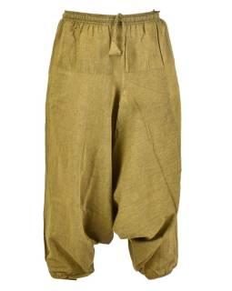Zelené turecké nohavice, guma v páse, vrecká, mäkčené prevedenie